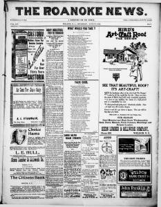 Image of newspaper from 1921