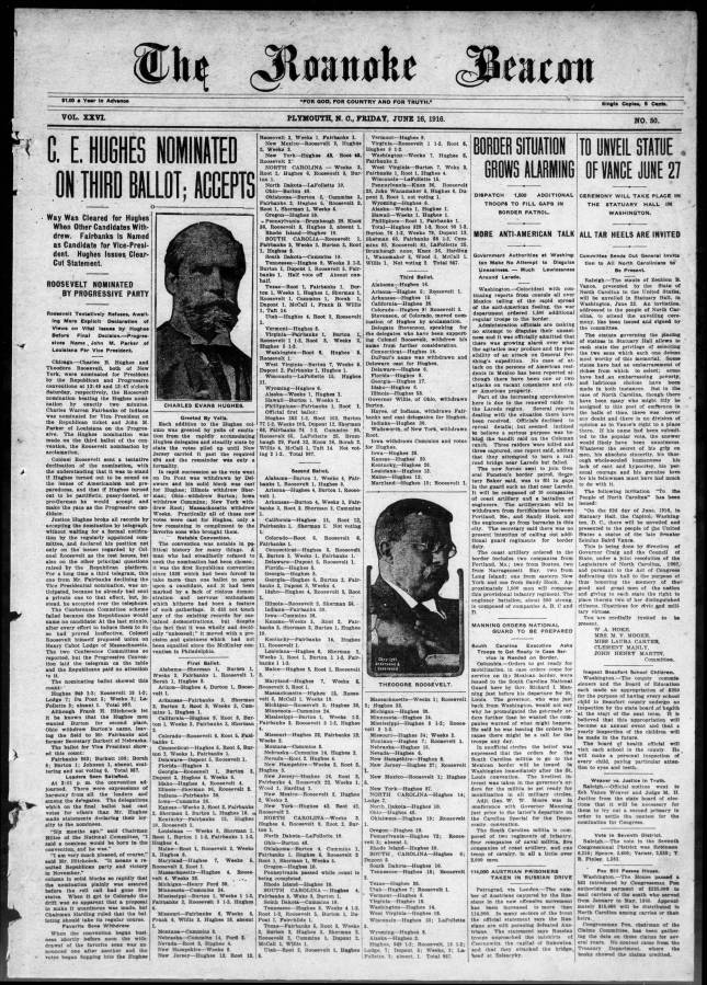 Page image of newspaper from 1916