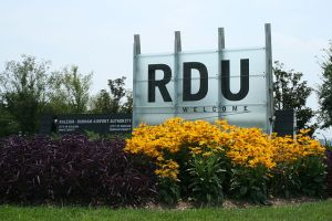 RDU Airport welcome sign