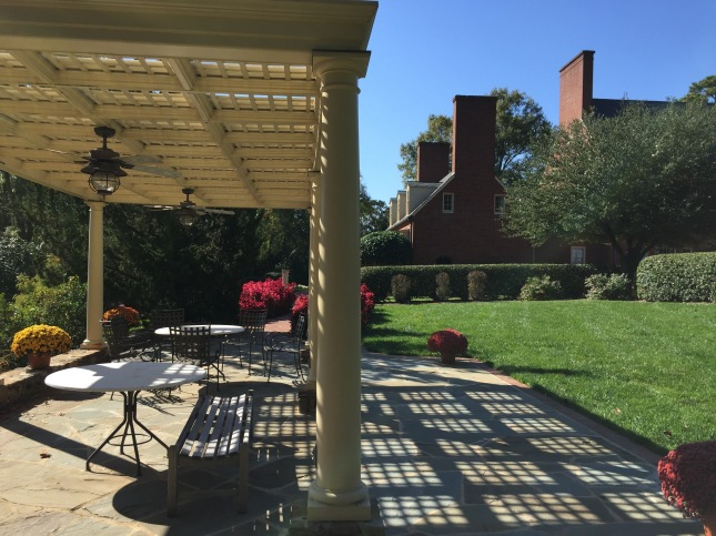 Pergola outside the DuBose House