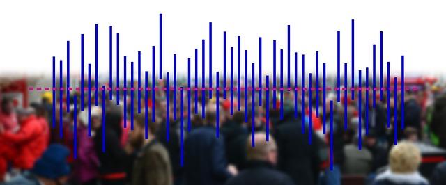 Illustration of statistics and people