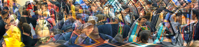 Overlapping photos of people in a social network - Used under CC-BY license from https://www.flickr.com/photos/pagedooley/8562448300/