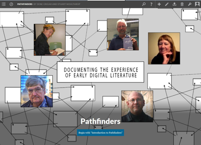 Screen shot from Dene Grigar and Stuart Moulthrop's Pathfinders multimedia Scalar book