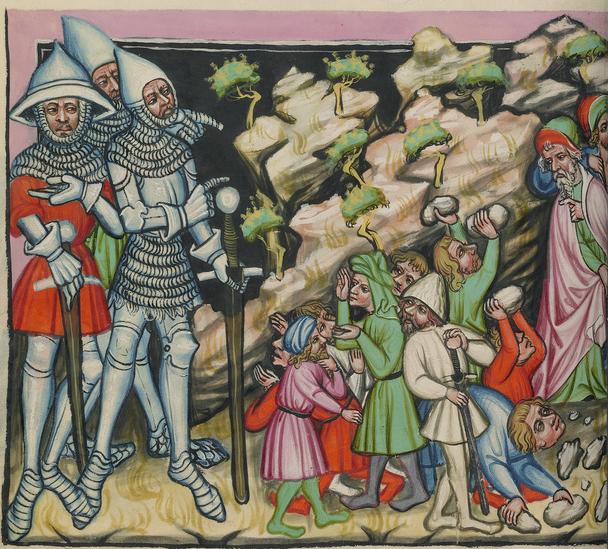 Image from an illuminated manuscript - Weltchronik