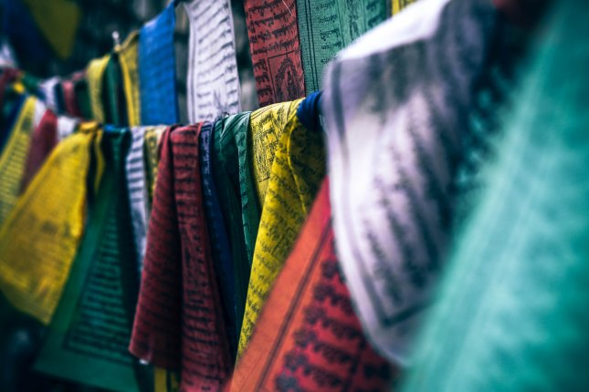 Photo of colorful prayer flags