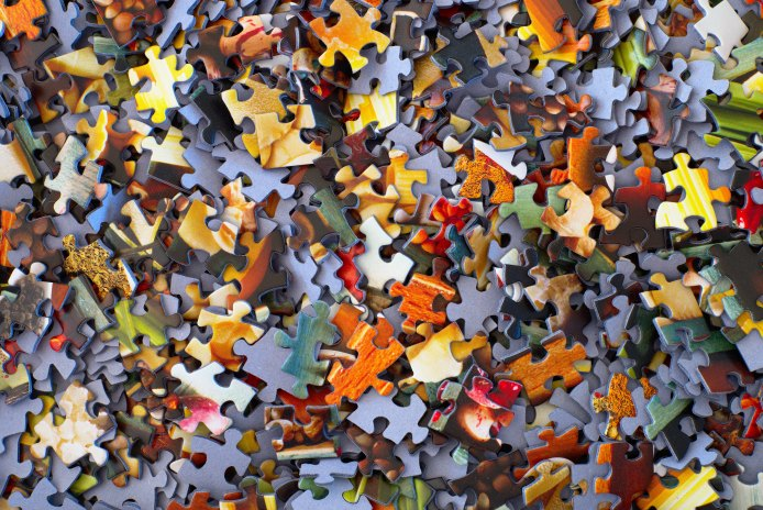 Photo of puzzle pieces