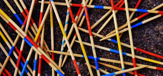 Photo of toy pick up sticks