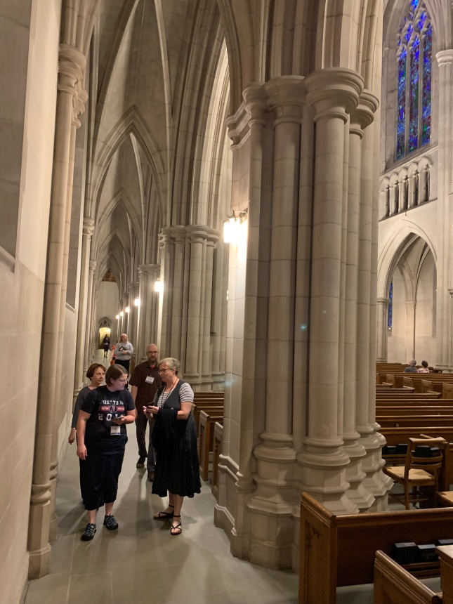 Photo of visiting Duke Chapel