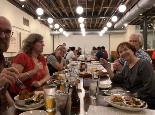 Photo of dinner at the Pit in Durham