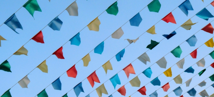 Photo of colorful flags