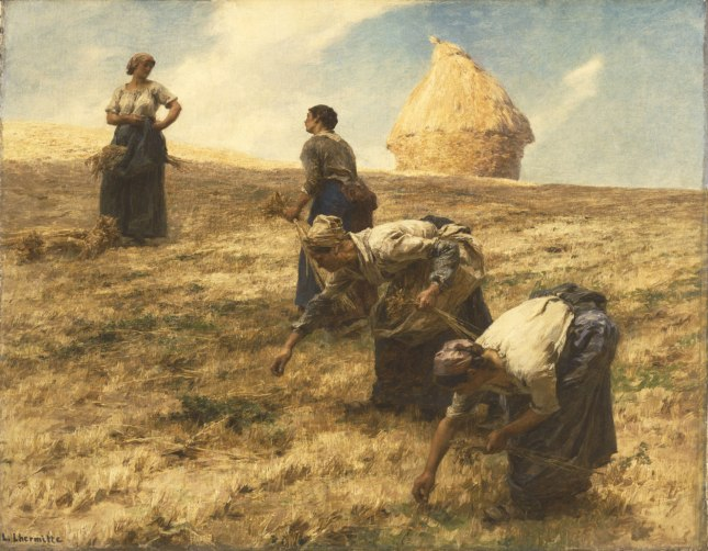"Painting titled ""The Gleaners"" by Léon-Augustin Lhermitte"