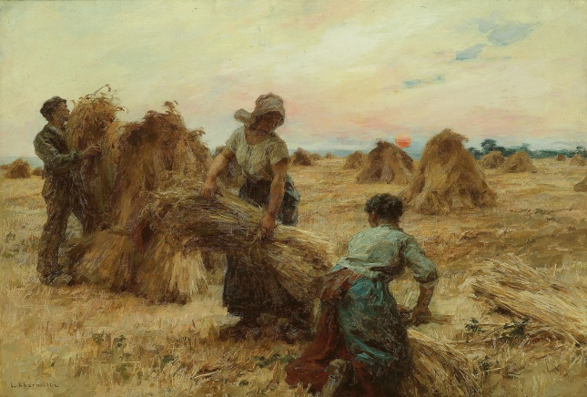 "Painting titled ""The Harvesters"" by Léon Augustin Lhermitte"